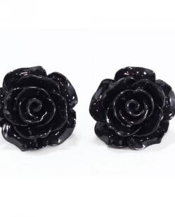 Svarta rosor örhänge